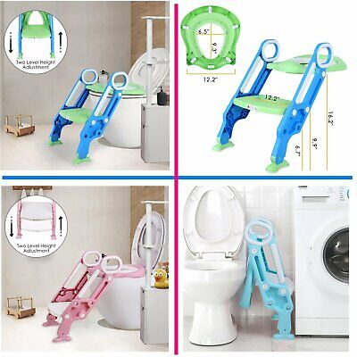 Toddler Toilet Chair Kids Potty Training Seat with Step Stool Ladder for Baby US