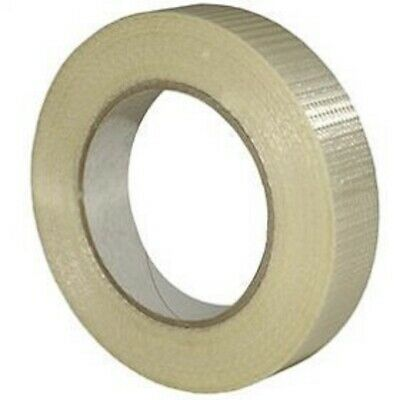 NEW 2 Roll Of STRONG CROSSWEAVE REINFORCED TAPE 25mm x 50M/ HIGH QUALITY
