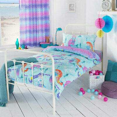 Little Big Cloud Mermaid Print Reversible Duvet Cover Set, Multi