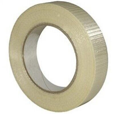 NEW 36 Roll Of STRONG CROSSWEAVE REINFORCED TAPE 25mm x 50M/ HIGH QUALITY
