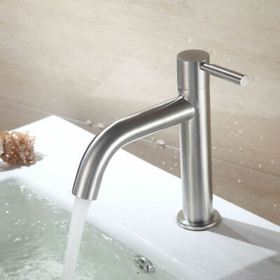 Cold Water Single Lever Bathroom Sink Faucet Basin Tap Accessory YGV