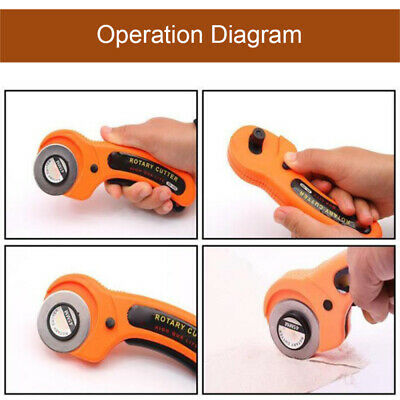 Inu S 45mm Rotary Cutter Quilters Sewing Quilting Fabric Cutting Craft Tool ZVI