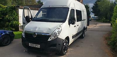 Vauxhall Movano LWB Extra High Roof ex Authority Van with A/C Windows Ideal Camp