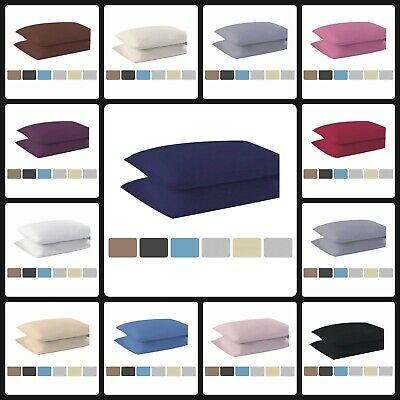 """Non Iron Percale Extra Deep Fitted Sheets 16""""/40CM Polycotton Pillowcases 2 Pack"""
