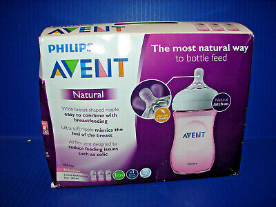 Philips Avent Natural Baby Bottle 3 pack in Pink, 9oz | SCF013/38