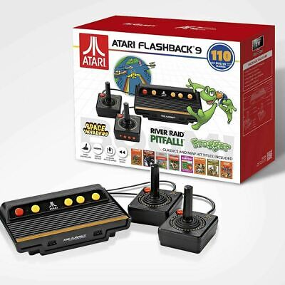 New Atari Flashback 9, Classic Game Console 110 Games Wired Joystick Controllers