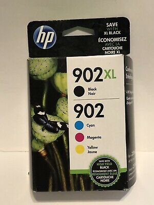 HP 902XL / 902  Color Ink Set Genuine New EXP Date: AUG 2019-SEALED