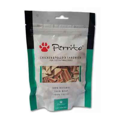 Perrito Chicken Pollock Dog Puppy Cat Natural Healthy Snack Treats Food Reward