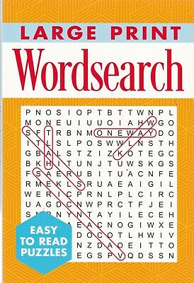 Large Print Wordsearch Puzzle Book (Paperback) A4 201 Puzzles 9781788887090