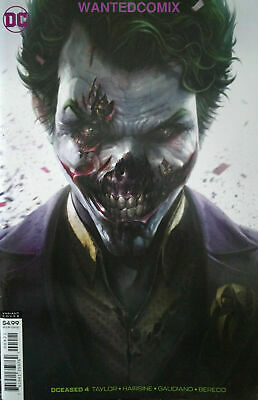 Dceased #4 (Of 6) Card Stock Variant Cover Mattina Joker Batman New 1 Aug 2019