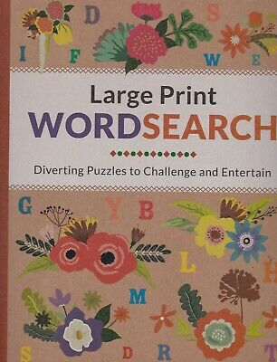 Large Print Wordsearch Puzzle Book - A4 Paperback 73 Puzzles