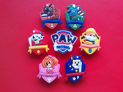 6 Cat Dog Bear Paw Prints jibbitz croc shoe charms loom band cake toppers