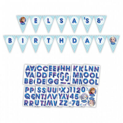 Disney Frozen Holographic Personalised Pennant Banner - Party Bunting Decoration