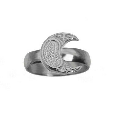 Muslim Moon Islam Islamic Allah The God Ring Sterling Silver 925 New Jewelry