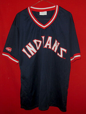 best service e6421 f1322 NICE MATCH-UP CLEVELAND Indians Blue Retro Throwback Jersey ...