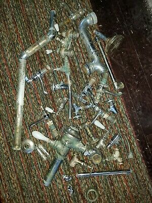 Antique Vintage PLUMBING parts Kohler STANDARD CHROME valves Brass