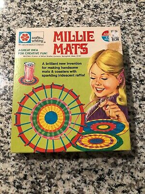 Crafts By Whiting Milton Bradley Millie Mats 1971 Loom Mat