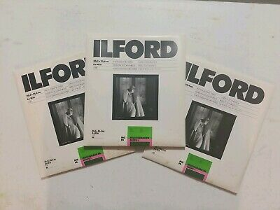 3-Ilford Photo Paper Multigrade FB MGFB.1K 25ct Glossy old stock 3 available