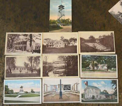 (10) Vintage Early 1900s VALLEY FORGE, PA Tower VALLEY CREEK BRIDGE Post Cards