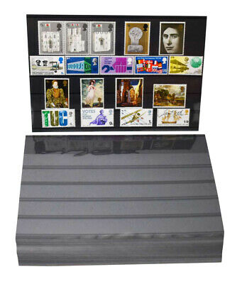 Large A5 Stock Card with 5 Strips for Stamp approvals, Ebay etc with foil cover