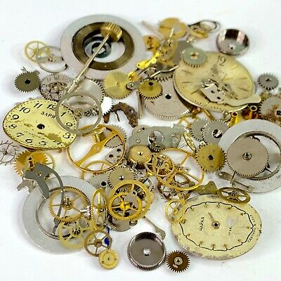 10 Grams Watch Parts Steampunk Wheels Gears Watchmaker Lot Altered Art Hands