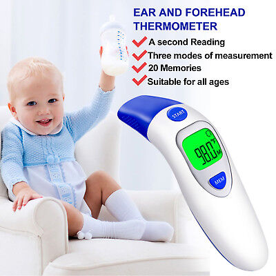 Digital Forehead Baby & Adult Infrared Thermometer and Ear Thermometer Dual