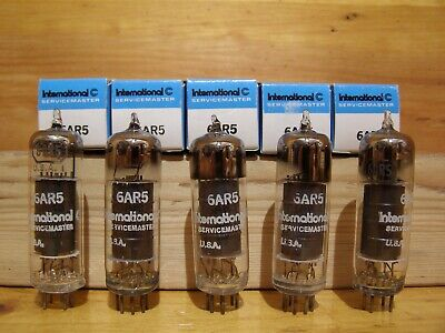Lot Of Five Servicemaster 6Ar5 Power Pentode Vacuum Tubes. Fully Tested. 3 Match