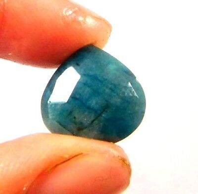 Dyed Faceted Blue Sapphire Gemstone 6 ct 12x12mm W452