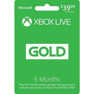 Xbox Live Gold - 6 Months (EMAIL DELIVERY WITHIN 24HR) (GLOBAL REGION)