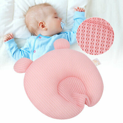 Head Shaping Tencel Breathable Washable Round Memory Pillow For Newborn Baby