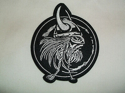 "4"" Viking W/ Horns Horned Hat Odin Norse God Mythology Embroidered Iron On Patch"