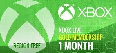 Microsoft 1 Month(30days) Xbox live Gold(EMAIL DELIVERY WITHIN 24HR)