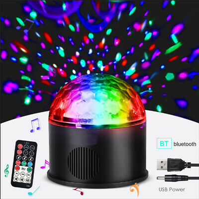 USB Disco Party DJ LED RGB Stage Strobe  Effect Light Lamp Crystal Ball 9 COLOR