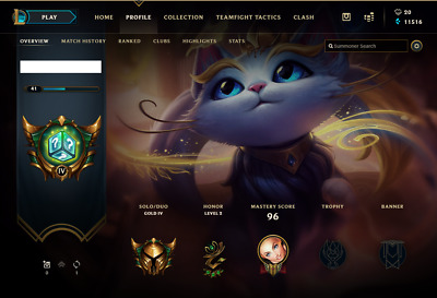 League of Legends NA Silver 2 LoL 52 champs CANT change PW