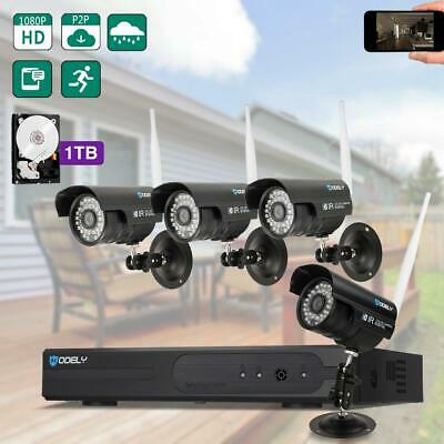 HODELY 8CH Wireless Security Camera System 1080P NVR Outdoor WIFI CCTV Video