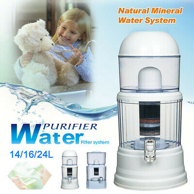 8 Stage Benchtop Water Filter - Ceramic Mineral Stone Carbon Purifier Filters AU