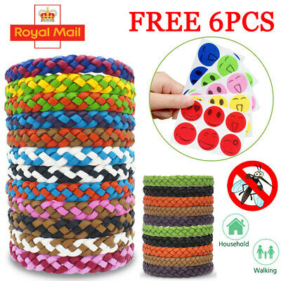 Natural Waterproof Anti Mosquito Insect Repellent Bracelet Spiral Wrist Bands 10