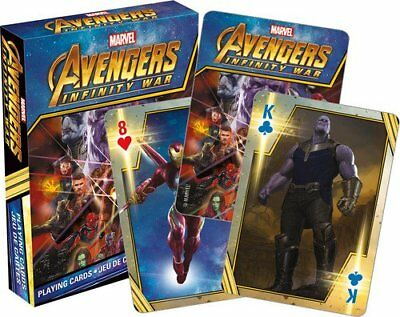 Avengers Infinity Guerre - Playing Carte Pont - 52 Neuf - Marvel Film 52557
