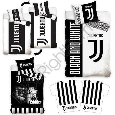 Juventus Single Duvet Cover Sets, Cushion, Fitted Sheet 100% Official