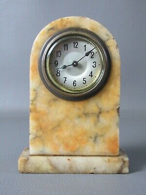 1910 M. Robin Paris Antique Watch Mechanical with Marble Alabaster Rare