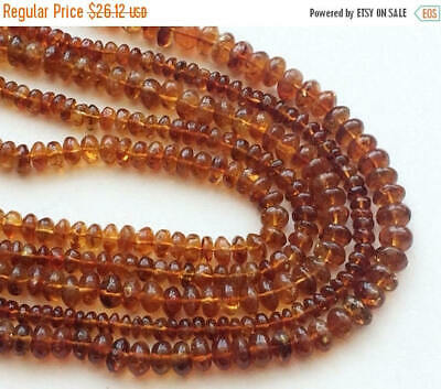 RAMA168 13 Inch Natural Citrine Spacer Bead Citrine Tyre Beads Necklace 4-4.5mm
