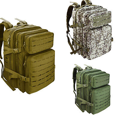 50L Outdoor Military Rucksacks Tactical Backpack Camping Hiking Trekking Packbag