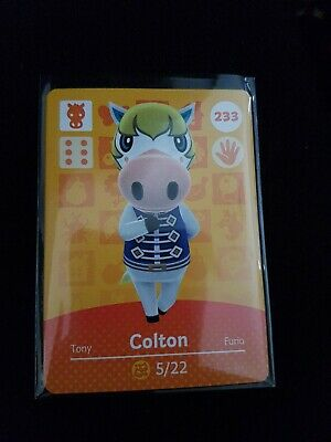 animal crossing new leaf welcome  amiibo card Colton 233