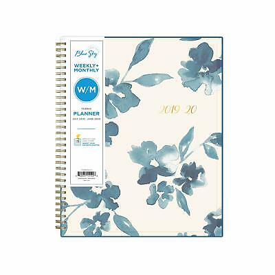 Blue Sky 2019-2020 Academic Year Weekly & Monthly Planner Flexible Cover Twin...