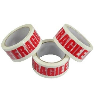 NEW BRAND 72 Rolls Of LOW NOISE FRAGILE Packing Tape 48mm x 66M / HIGH QUALITY