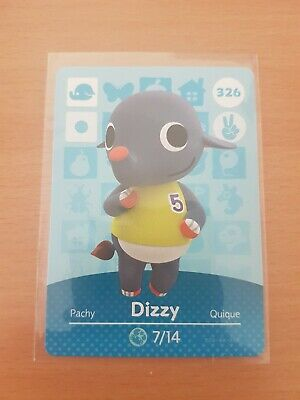 animal crossing new leaf welcome  amiibo card dizzy 326