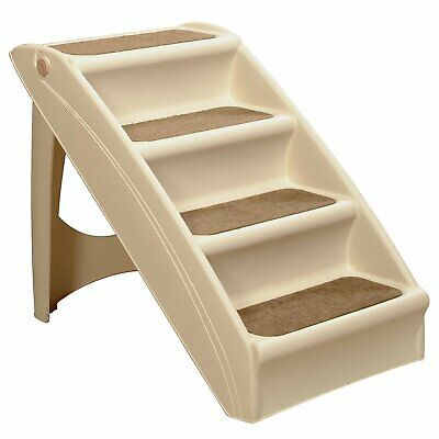 Solvit PupSTEP Plus Pet Stairs, Foldable Steps for Dogs and Cats