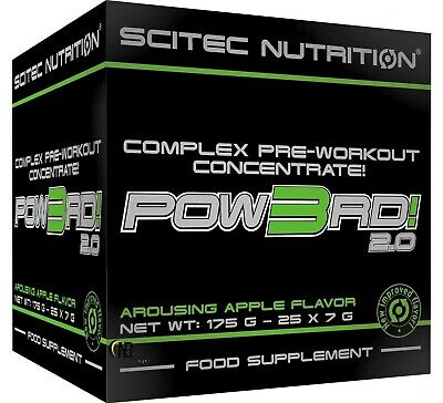 Scitec Nutrition Pow3Rd 2.0 25 envelopes 7 gr Pre Work Out with Creatine