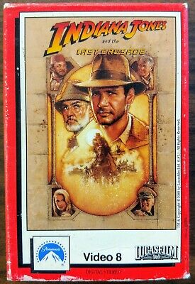 Indiana Jones And The Last Crusade on Video 8 - Rare 8MM Format