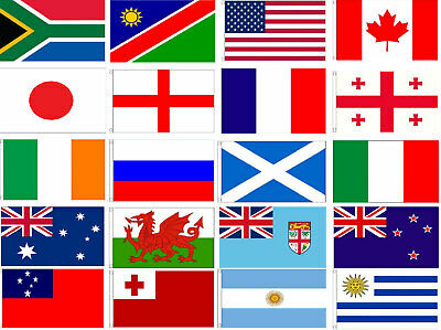 RUGBY WORLD CUP FLAGS 5' x 3' RWC 2019 Japan New Zealand Wales South Africa etc